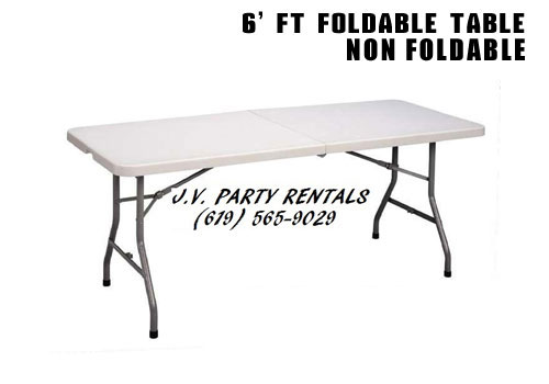 6 Ft Foldable Table Non
