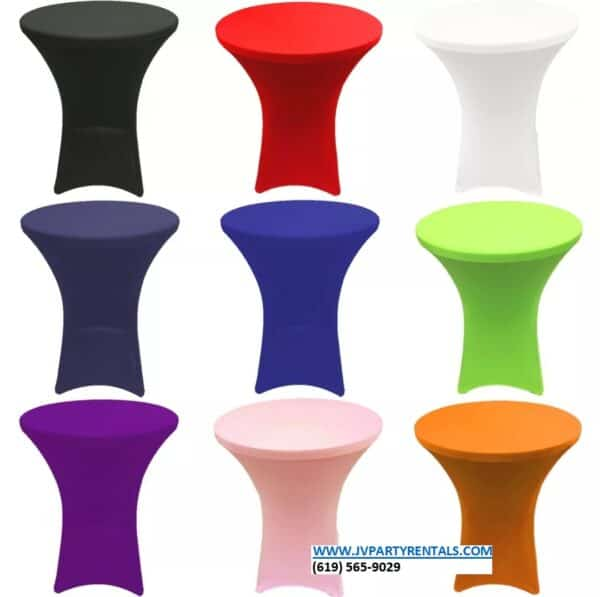 Belly Top Table Covers - Mutliple Colors